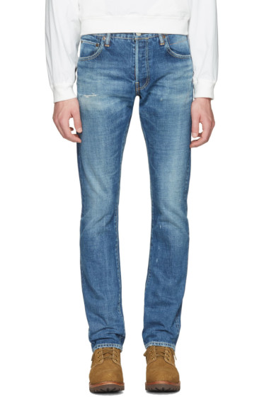 Visvim - Blue Slim Social Sculpture 01 Jeans