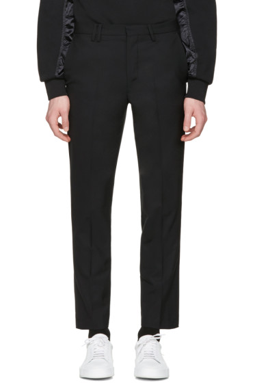 Tim Coppens - Black Cropped Tailored Trousers