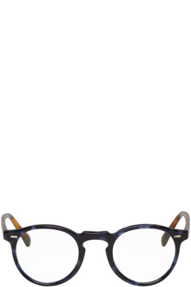 Oliver Peoples - Blue Tortoiseshell Gregory Peck Glasses