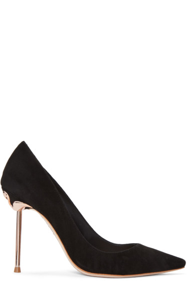 Sophia Webster - Black Suede Coco Flamingo Heels