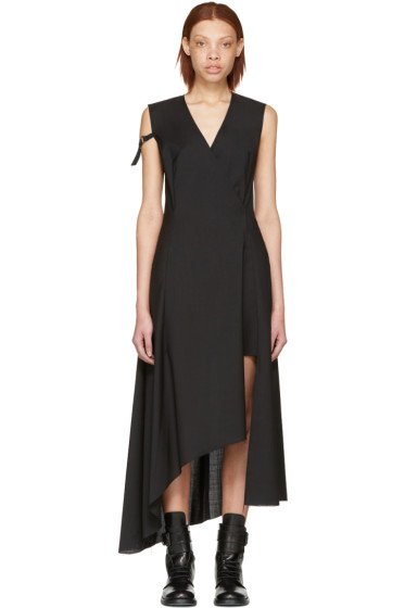 Yang Li - Black Asymmetric Cross Over Dress