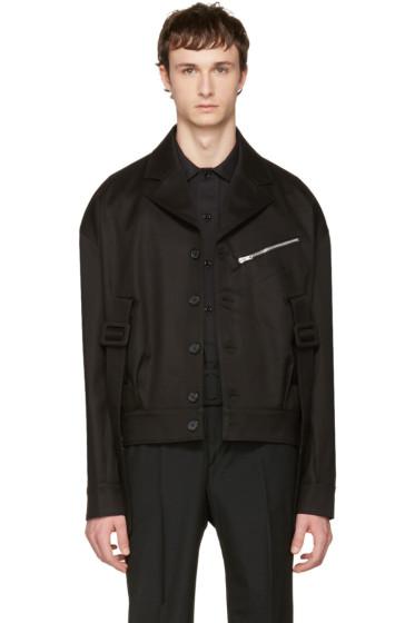 Yang Li - ブラック ベルト アーミー ジャケット
