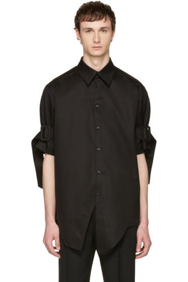 Yang Li - ブラック ベルト スリーブ シャツ