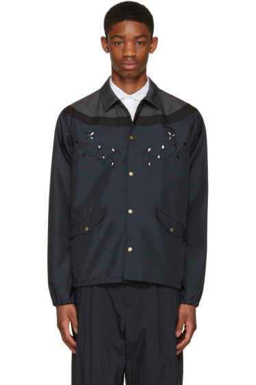 Kolor - Navy Contrast Shirt Jacket