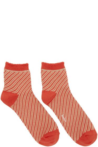 Kolor - Orange Striped Socks
