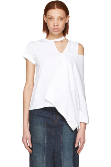 Facetasm - White Asymmetry T-Shirt
