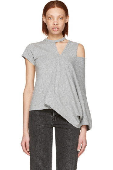 Facetasm - Grey Asymmetry T-Shirt