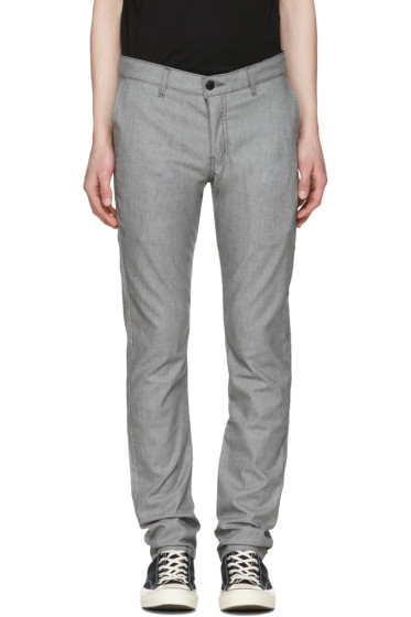 Naked & Famous Denim - Grey Slim Chino Trousers