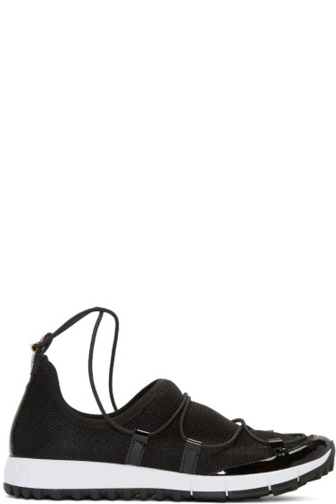 Jimmy Choo - Black Andrea Low-Top Sneakers