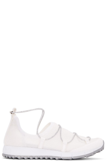 Jimmy Choo - White Andrea Sneakers
