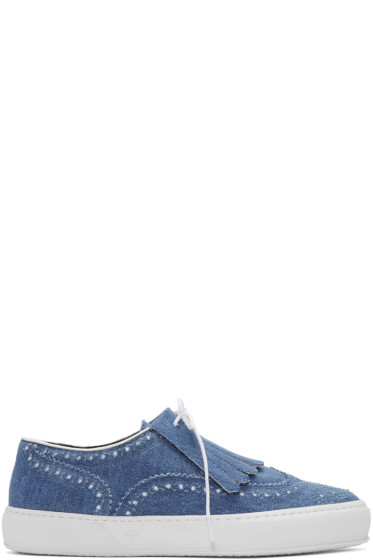 Robert Clergerie - Blue Tolka Denim Sneakers