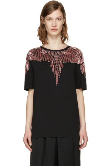 Marcelo Burlon County of Milan - Black Embellished Sofia T-Shirt