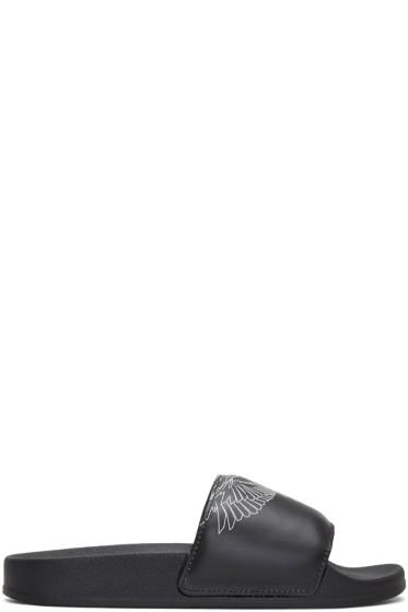 Marcelo Burlon County of Milan - Black Amber Sandals