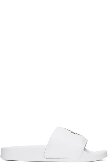 Marcelo Burlon County of Milan - White Kelly Pool Slider Sandals