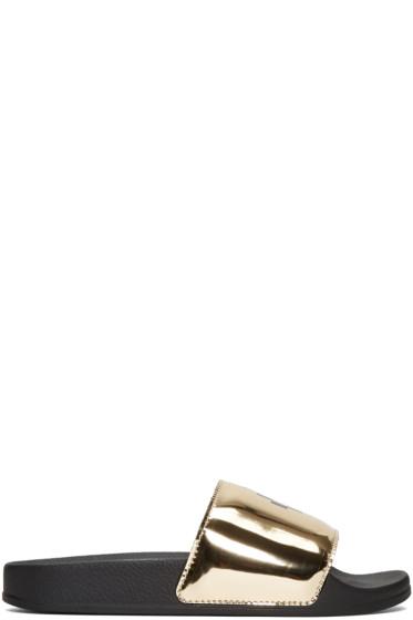 Marcelo Burlon County of Milan - Black Kelly Pool Slider Sandals