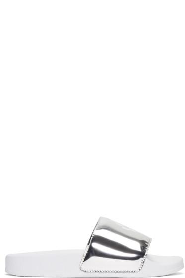 Marcelo Burlon County of Milan - White Kelly Pool Slider Sandal