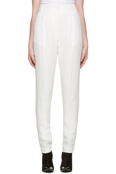Haider Ackermann - Ivory Pleated Trousers