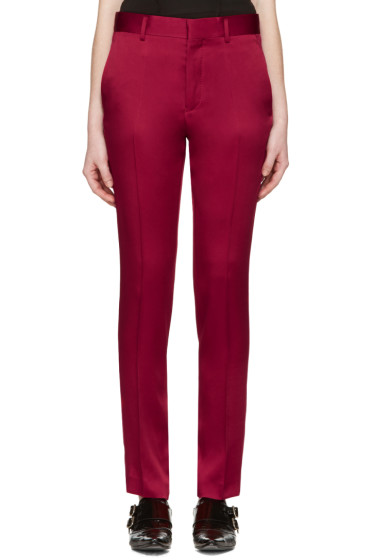 Haider Ackermann - Red Classic Trousers