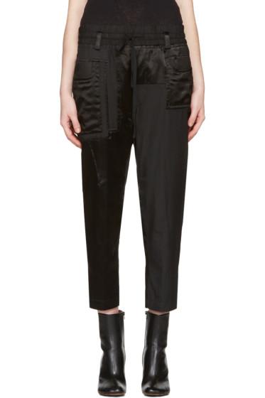 Haider Ackermann - Black Patchwork Lounge Pants