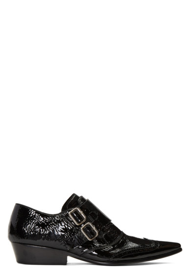Haider Ackermann - Black Monk Strap Slide Loafers