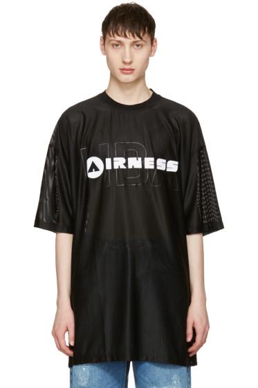 Hood by Air - Black 'Airness' T-Shirt