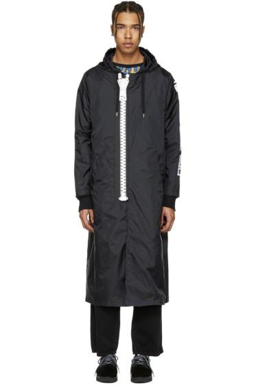 Miharayasuhiro - Black Massive Zip Hooded Coat