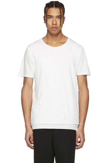 Miharayasuhiro - White Distressed T-Shirt