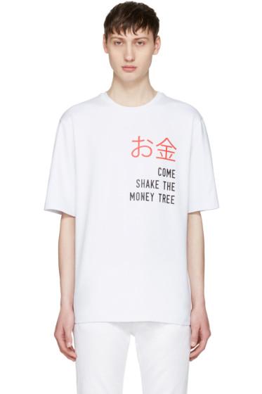 Pyer Moss - White 'Money Tree' T-Shirt