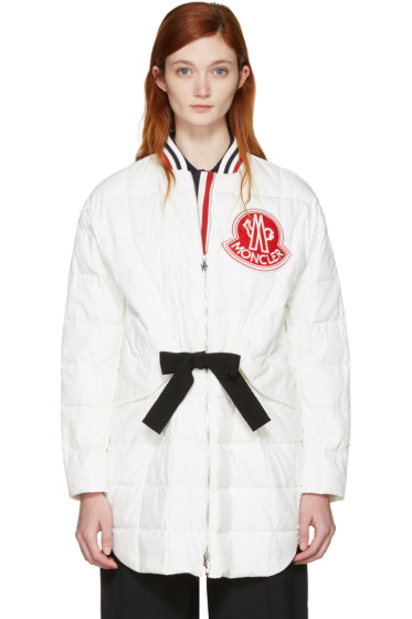 Moncler Gamme Rouge - White Down Logo Coat