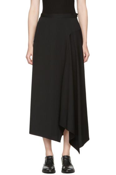 Yohji Yamamoto - Black Asymmetric Wrap Skirt