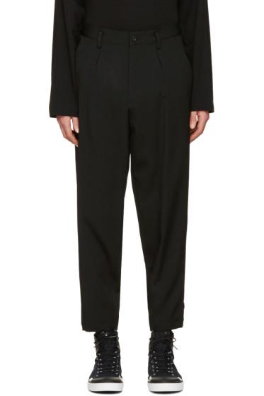 Yohji Yamamoto - Black Slim Fit Gabardine Trousers