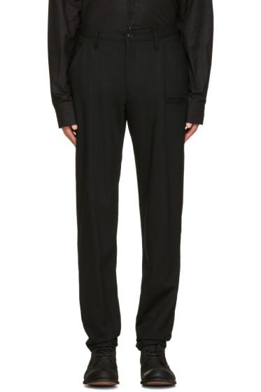 Yohji Yamamoto - Black Wool Slim Trousers