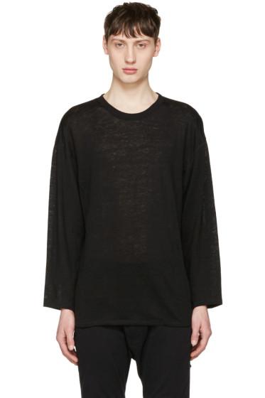 Christian Dada - Black Linen Pullover