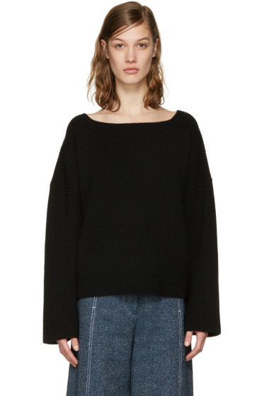Isabel Marant - Black Oversized Fly Sweater