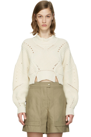 Isabel Marant - Ecru Cropped Gane Sweater
