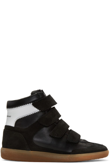 Isabel Marant - Black Suede Bilsy Wedge Sneakers