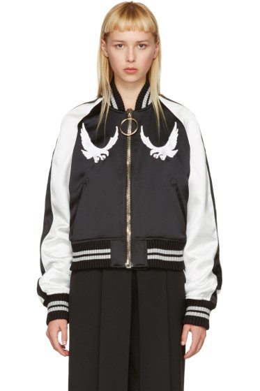 Off-White - Black & White Cropped Souvenir Jacket