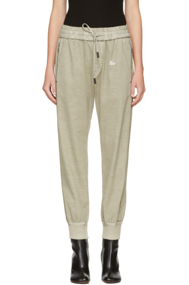 Off-White - Beige Slim Track Pants