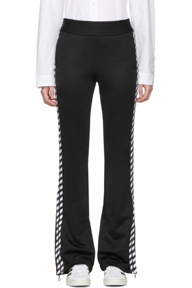 Off-White - Black Diagonal Side Track Pants