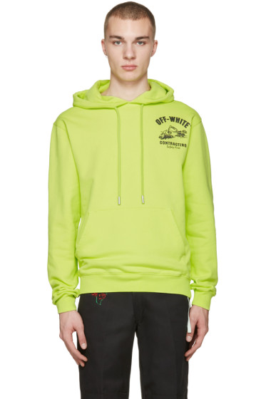 Off-White - Green Construction Hoodie