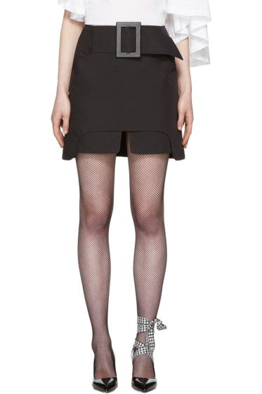 Toga - Black Buckle Miniskirt