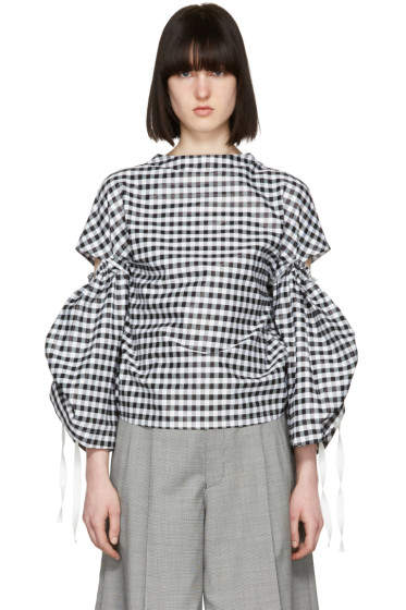 Toga - Black & White Gingham Blouse