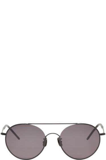 Johnlawrencesullivan - Black Round Sunglasses