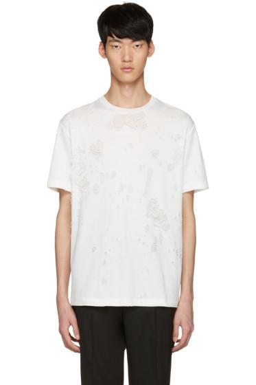 Johnlawrencesullivan - White Destroyed T-Shirt
