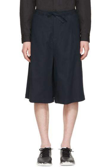 Undecorated Man - Navy Drawstring Shorts