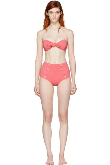 Lisa Marie Fernandez - Pink Poppy High-Waisted Bikini
