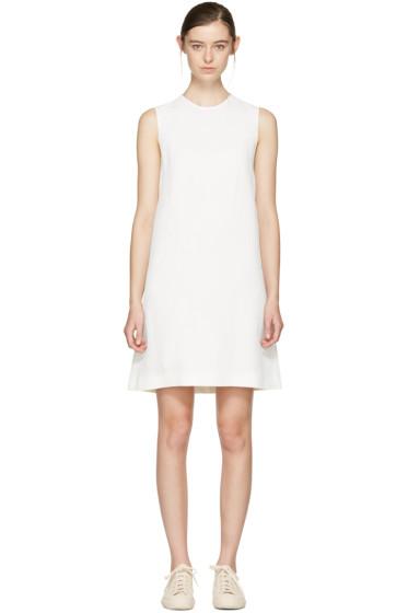 Jil Sander Navy - ホワイト A ライン シフト ドレス