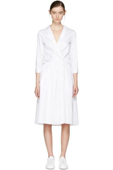 Jil Sander Navy - ホワイト カラー ポプリン ドレス