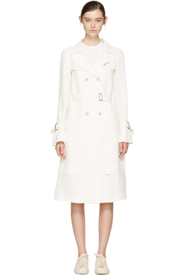 Jil Sander Navy - White Belted Trench Coat