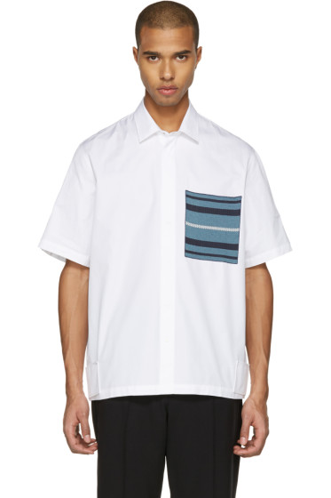 OAMC - White Knit Pocket Shirt